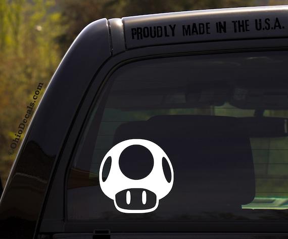 1UP Mario Vinyl Decal Sticker Window Car 1 Up Truck Drift JDM