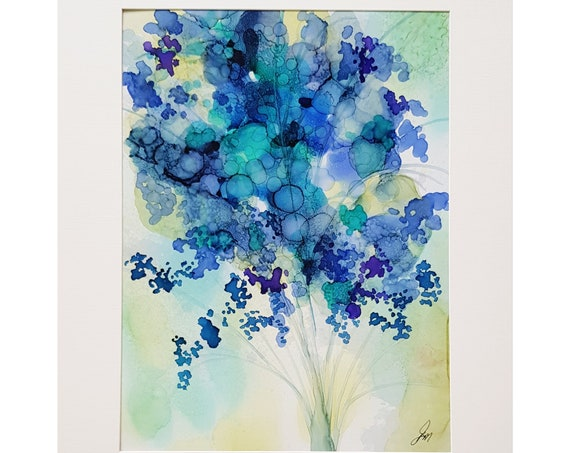 Rich Bouquet,  Original Alcohol Ink Abstract