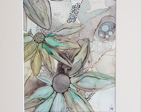 Pale Teal Floral