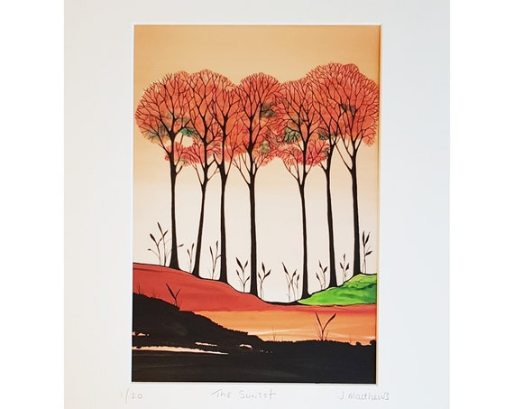 The Sunset, Fine Art Giclee Print