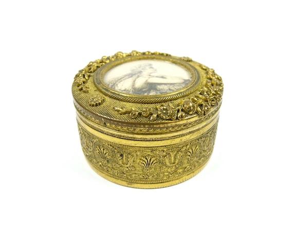 Antique French Ormolu Trinket Box