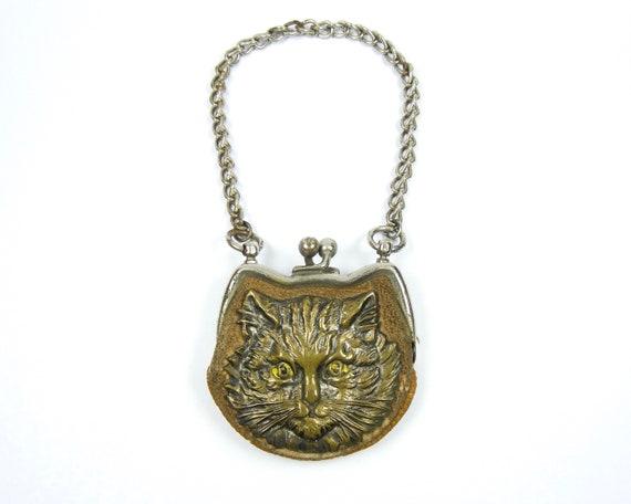 Victorian Figural Cat Coin Purse