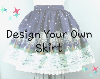 Design Your Own Lolita Skirt - Custom Knee Length Skirt - Kawaii, Sweet, Gothic Lolita, Jfashion Style - Choose a Fabric or Provide Your Own