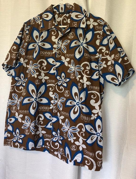 Primo Beer Hawaiian Shirt. Men's shirt L/XL. Great