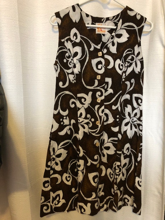 Vintage Hawaiian Barkcloth Dress
