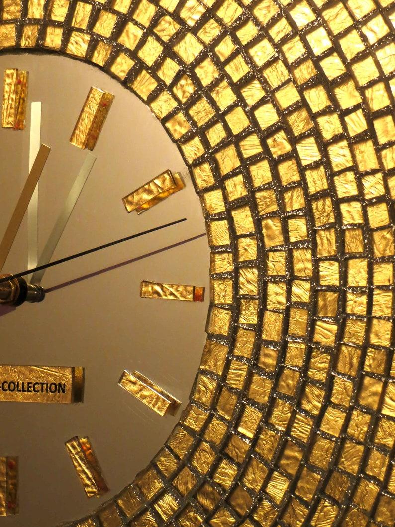 horloges murales uniques horloges murales horloge murale en mosaïque horloge murale miroir horloges murales inhabituelles horloges dhorloge de miroir de mosaïque