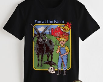 5e4affcb Steven Rhodes T Shirt, Steven Rhodes Shirt, Retro 70s/80s Shirt Fun At The  Farm Clothing Men Shirt