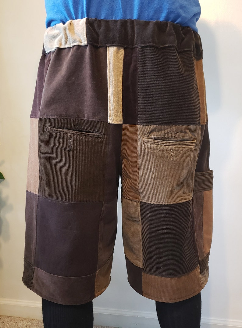 brown String Cheese Incident handmade patchwork SCI festival shorts Mens L 40-45