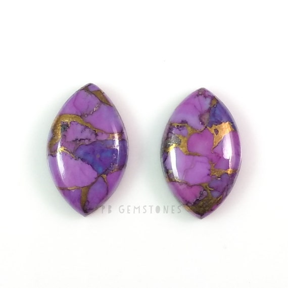 Purple Copper Mohave Turquoise Cabochon Square Shape  Cabochon...24x24x4mm Approx 23Ct