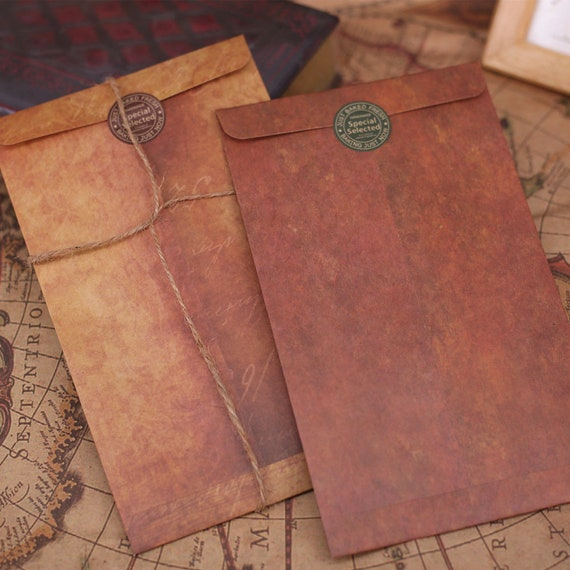 Coloffice Vintage Envelope 10pcs Lot Creative Kraft Paper Etsy