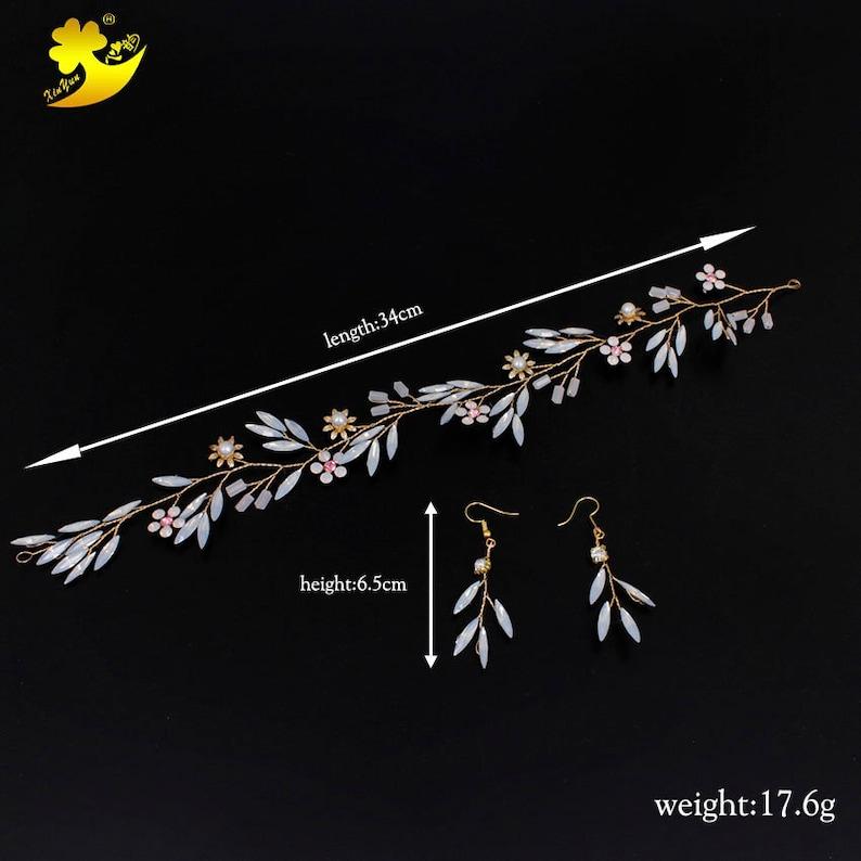 Wedding Headband Earrings Rhinestones Bridal Hair Accessories Handmade Bijouterie Crystals Fashion Jewellery Hair Jewelry