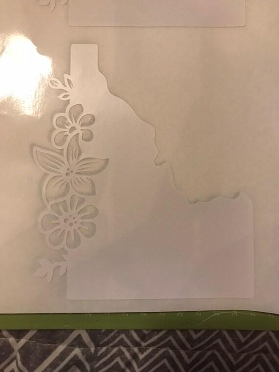 Floral Idaho decal