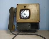 Soviet wall phone 1987. Soviet telephone. Vintage phone. rare phone. Rotary Dial Phone. Black rotary phone, Vintage gift
