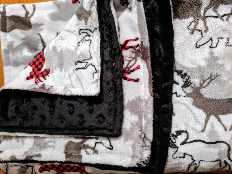 Buffalo Plaid Moose Blanket