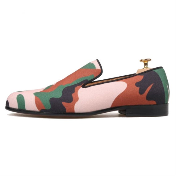 Homme Camouflage impression chaussons mocassins mocassins mocassins ballerines | 2019