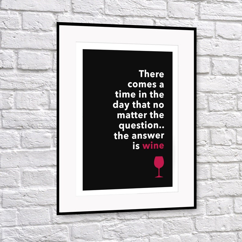 The answer is wine print image 0