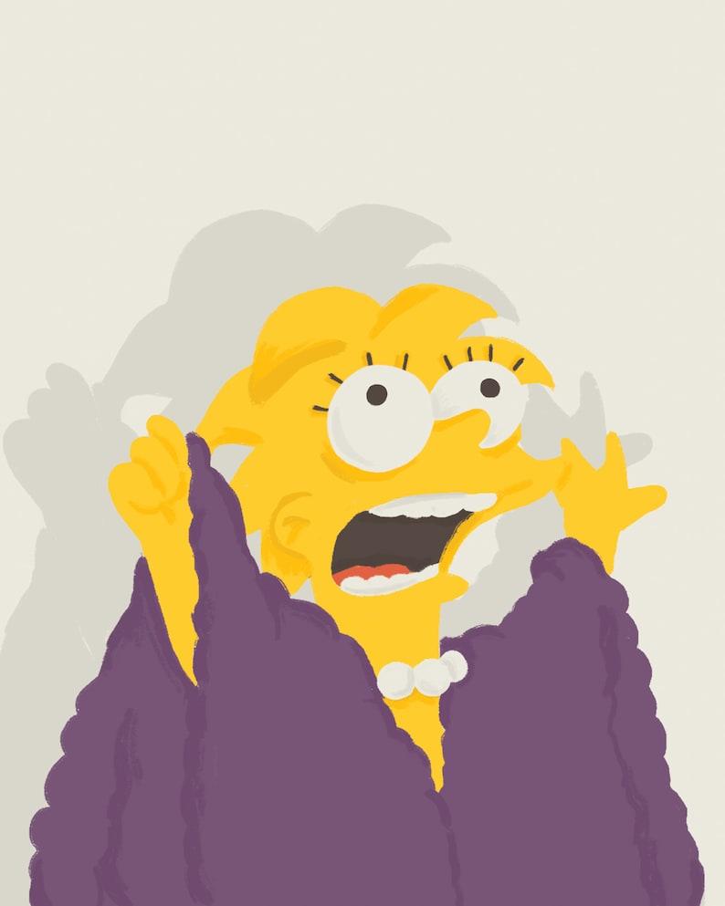 I Am The Lizard Queen  Lisa Simpson Print 8x10 image 0