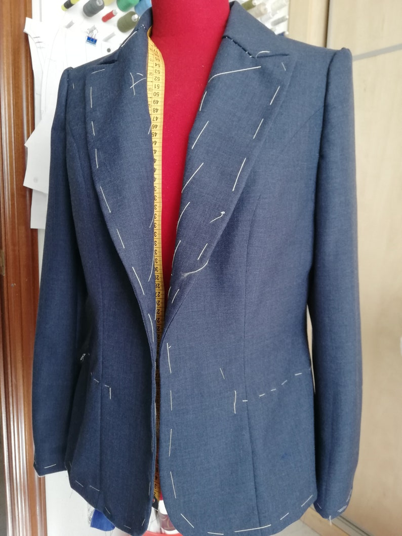 Tailored jacket pattern pdf instant download PATRON DE AMERICANA cl\u00e1sica para coser pdf descarga inmediata,americana sastre,