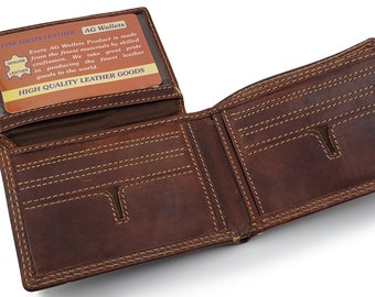 64c55b44e863 Real leather wallet   Etsy