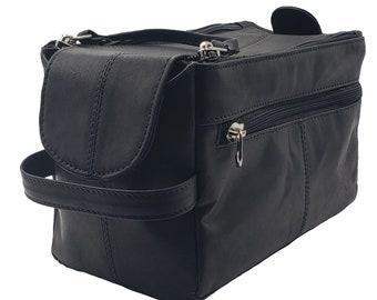 Mens Toiletry Bag, Shaving Kit, Travel Case, Premium Cowhide Leather,  Groomsmen Gift, Leather Dropp Kit a5aec5f853