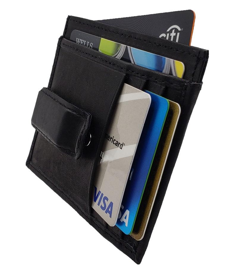 3ef14bc4fa22 AG Wallets Mens Leather Slim Money Clip Front Pocket Minimalist Wallet  Credit Card Holder