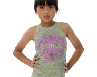 edaa0f87943484 Green and Pink Modern Vintage Lace Active Wear Tank Top