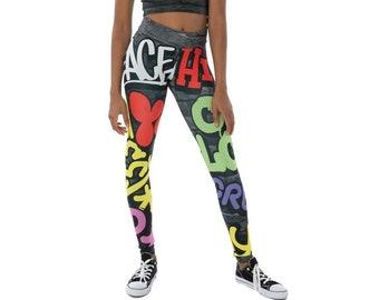Hip Hop Leggings Etsy