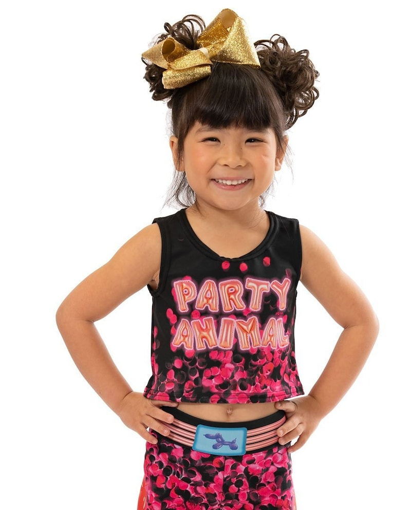 Party Animal Balloons Active Wear Tank or Crop Top