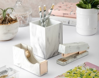 Marble Office Stationery Set