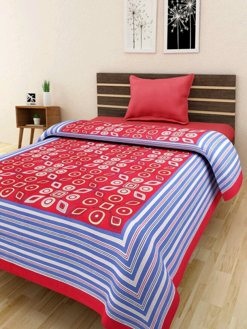 Jaipur Printed bed sheet full king size 220x270 cm.with 2 pillow cover