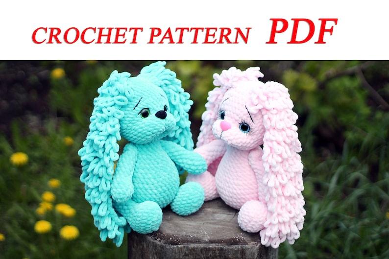 Crochet bunny pattern / Bunny plush pattern for knitter gifts image 0