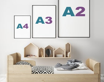 A2 A3 A4 Black and White Picture Frames
