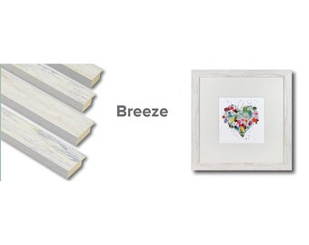 Breeze - Washed Out Coastal Style Wood Picture Frames