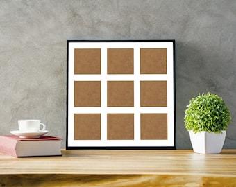 3x3 Inch Square Photo Multi Aperture Picture Frame