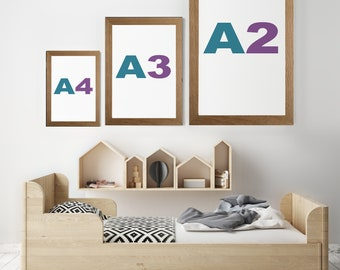 A2 A3 A4 Rustic Wood Picture Frames