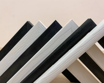 Black and White Wood Picture Frames