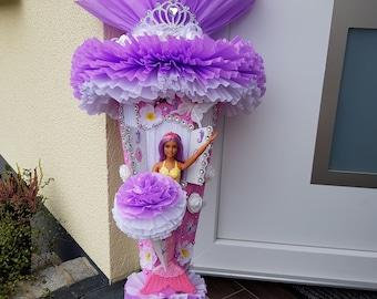 Nr.85+86 Schultüte Zuckertüte Prinzessin Barbie Puppe Fee  Unikat 105 cm