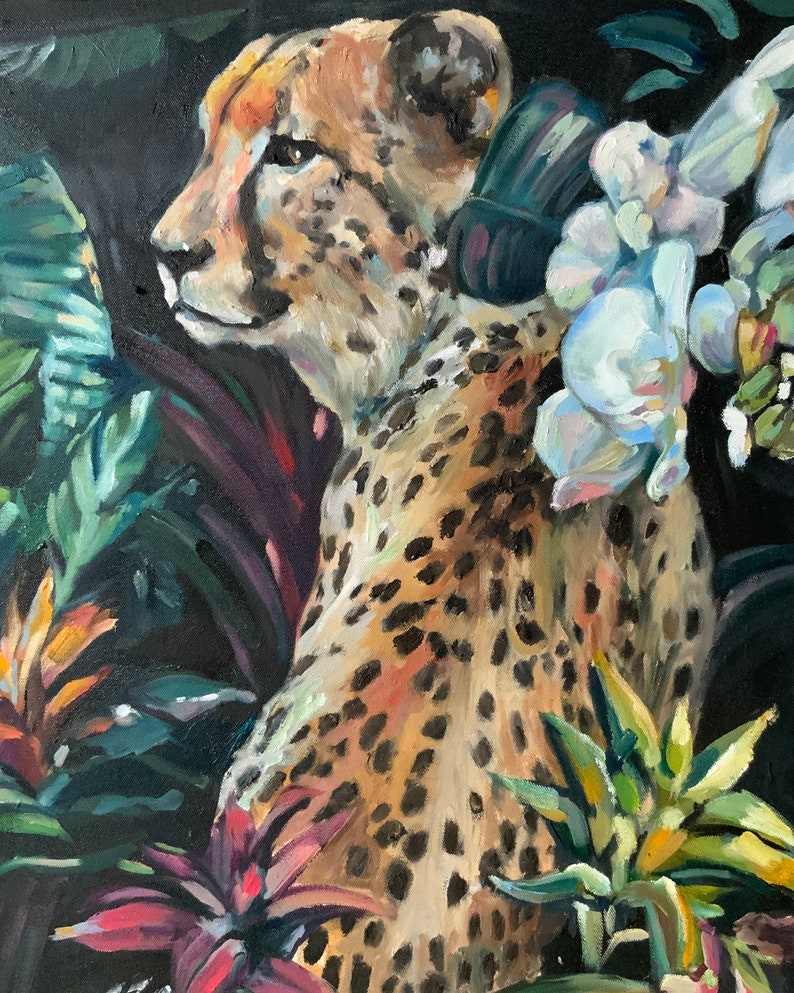 Cheetah in the Palms NEW! Limited Edition Giclee Print