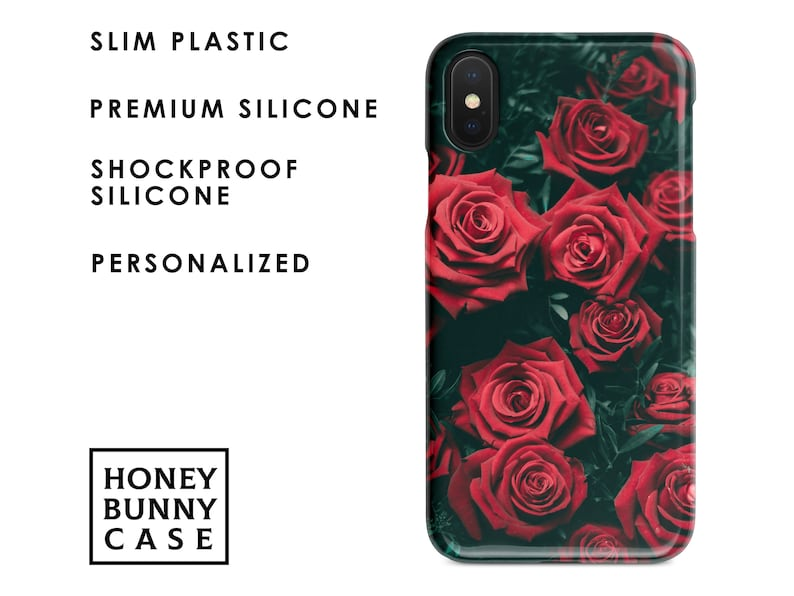 f187d725a1 Personalized Red Rose iPhone XS Max case Roses iPhone XS case | Etsy
