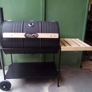 Oil Drum Barrel Barbecue Smoker BBQ Charbon Oil Drum FULL | Etsy