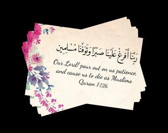 Muslim Dua Shifa Islamic Card for sick Prayer Card Get Well