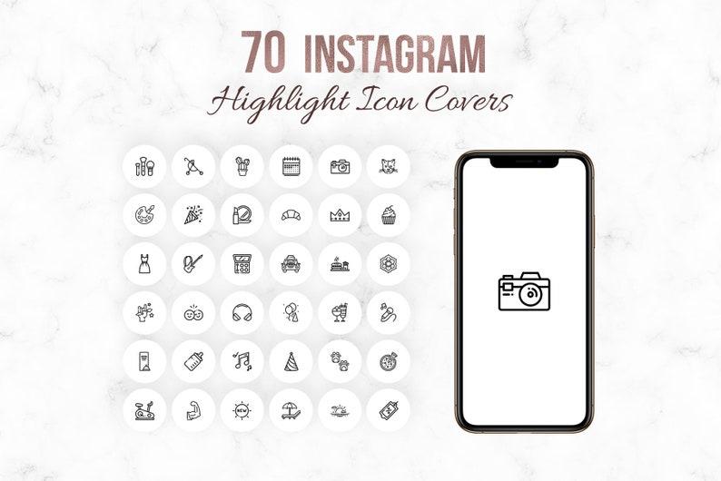 Icone Di Evidenziare Storia Di Instagram Instagram Storia Etsy