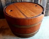 Exclusive Item - Wine Barrel Storage Table