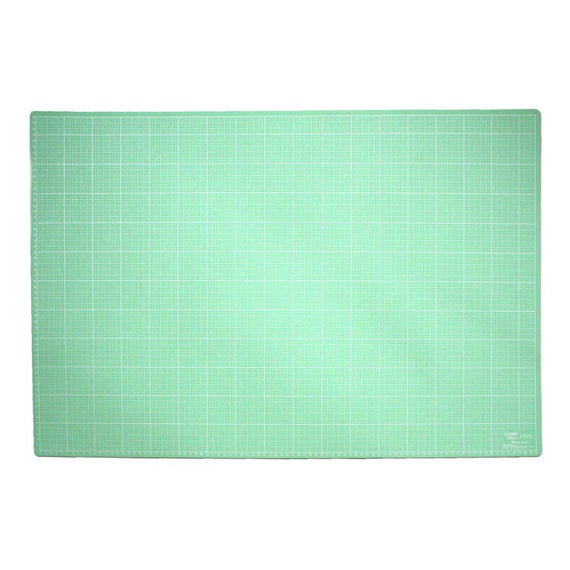 A1 Cutting Mat + Roll Cutter + ruler (Color: Mint-lilac)