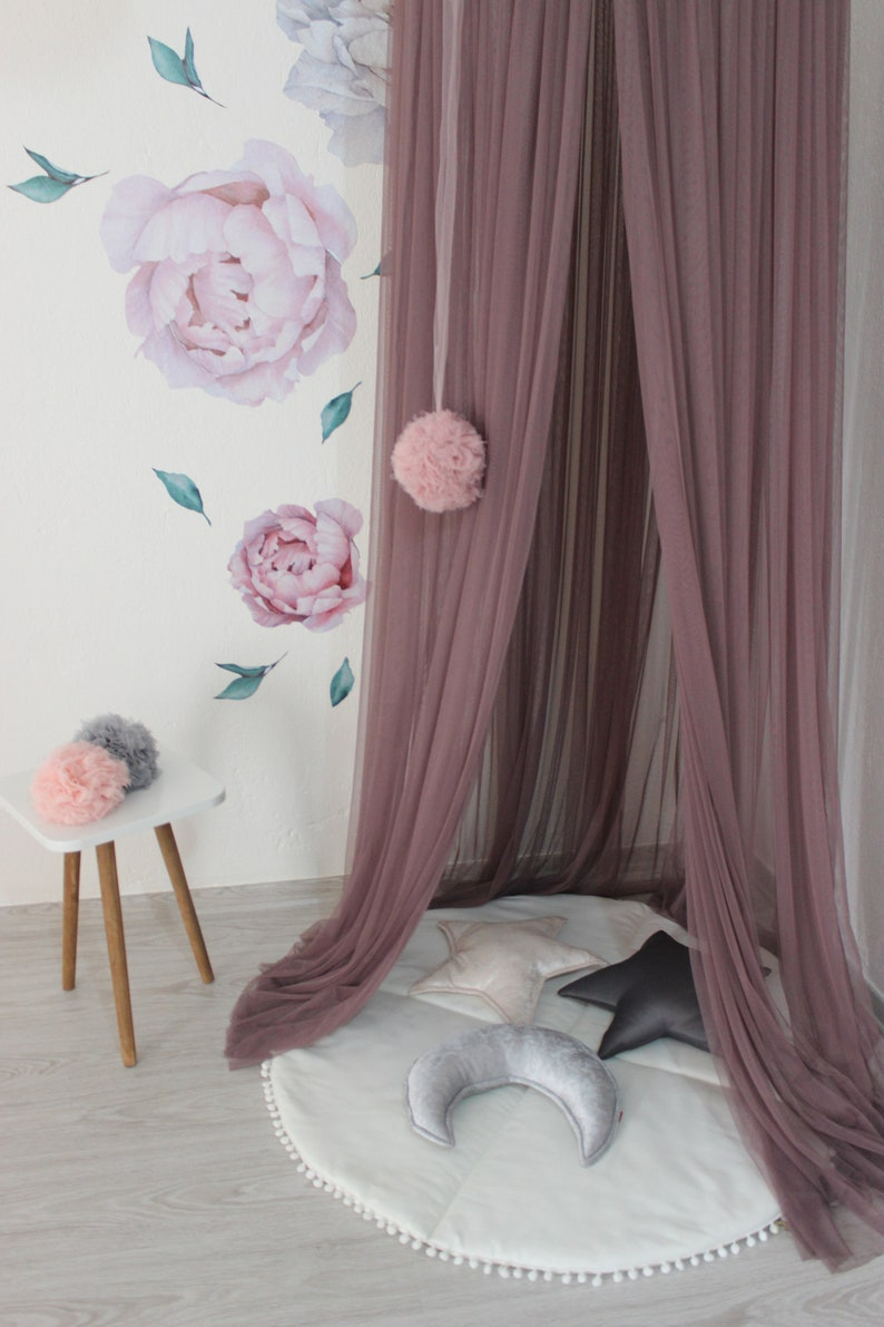 Bed Canopy,Hanging Play,Crib canopy,Children/'s Canopy,Reading Nook,Hanging Teepee,Kids Canopy,Bohemian Canopy,Canopy Bed Grey Canopy