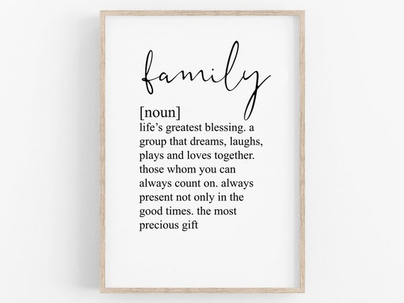 Family Gift Poster Be A Nice Person //// Personalised Print //// Inspirational Quote //// Be Kind //// Wall Print //// Monochrome Home Decor
