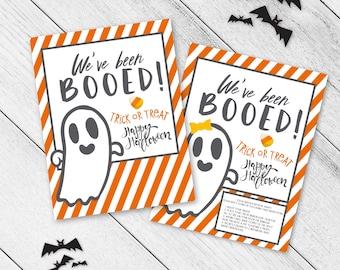 We've Been Booed Halloween Game, Fun Family Game, Halloween Spirit, Trick or Treat, Neighborhood Tradition, You've been booed Printable