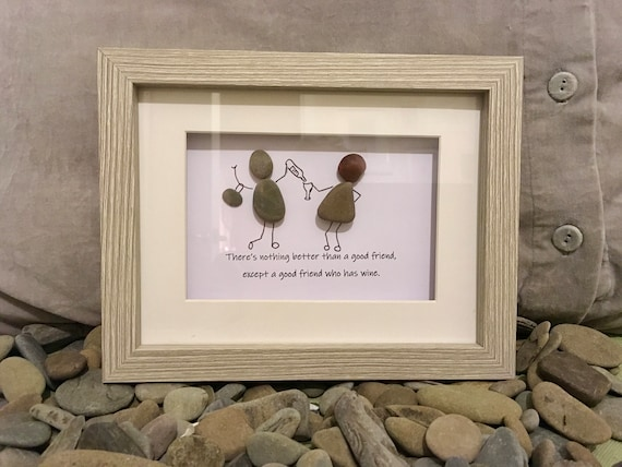 Handmade Pebble Art Chien avec Seaglass oiseaux Carte de vœux Anniversaire All Occasions