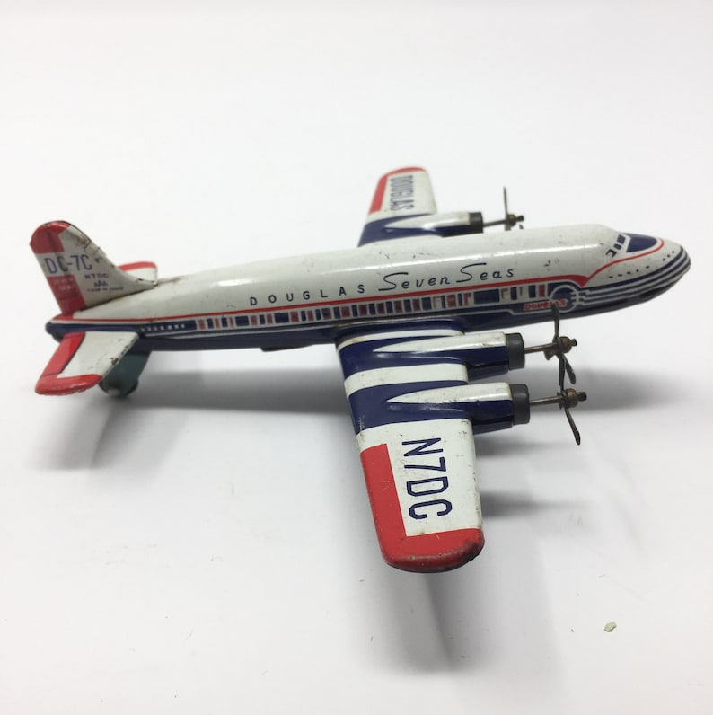 Seas Aircraft Seven 7c Toy Tin Douglas Dc GiapponeEtsy 9WDEH2I