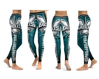 8b215667b2122 Warm Leggings, Name Leggings, Philadelphia Eagles Legging, Sports Team  Legging, Football Leggings, Custom Leggings, christmas leggings women